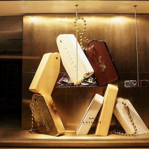 That Metal Company, #915 Brushed Brass Aluminium, Aluminium, Coach Retail Display